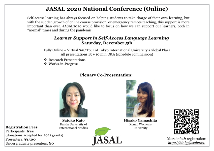 JASAL2020 conference poster